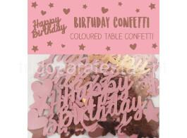 rose gold confettis happy birthday