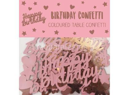 rose gold confettis happy birthday