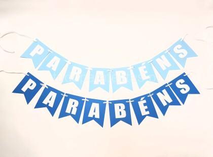faixa parabens azul