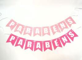 faixa parabens rosa