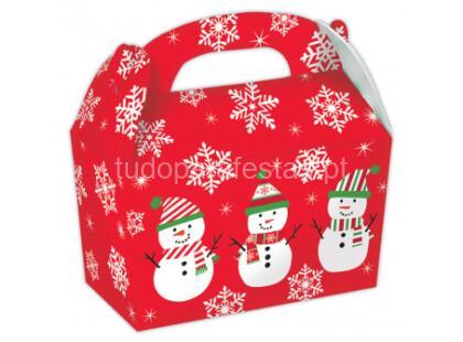 natal caixa doces boneco neve 5unid