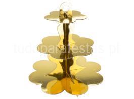 stand cupcakes dourado