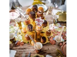 stand cupcakes dourado2