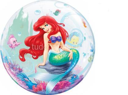 Sereia balao ariel bubble