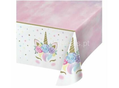 unicornio floral toalha