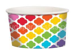 gelado taça colorida