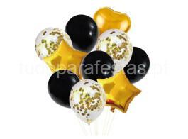 kit baloes preto dourado